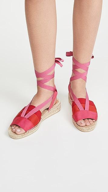 Castaner Sabry 麻编平底鞋