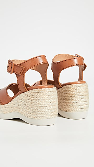 Castaner Xise 编织底坡跟绑带厚底凉鞋