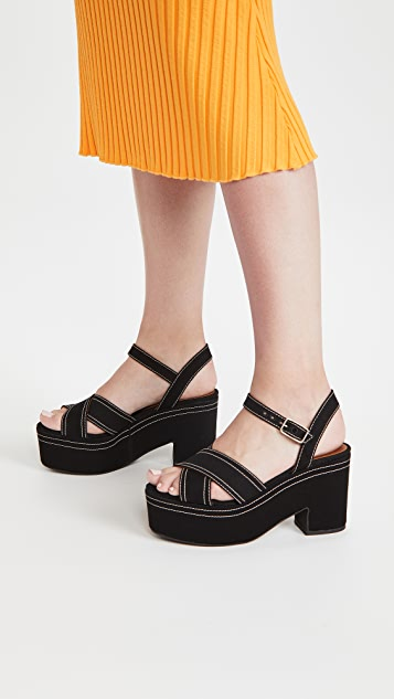 Castaner Xally Platform Sandals
