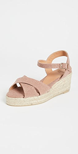 Castaner - Blaudell 交叠带低坡跟麻编平底鞋
