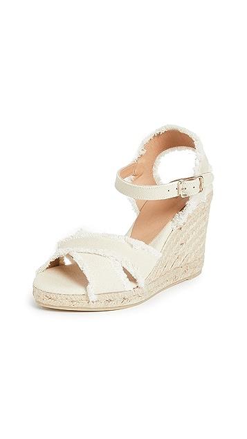 Castaner Bromelia 坡跟编织底便凉鞋