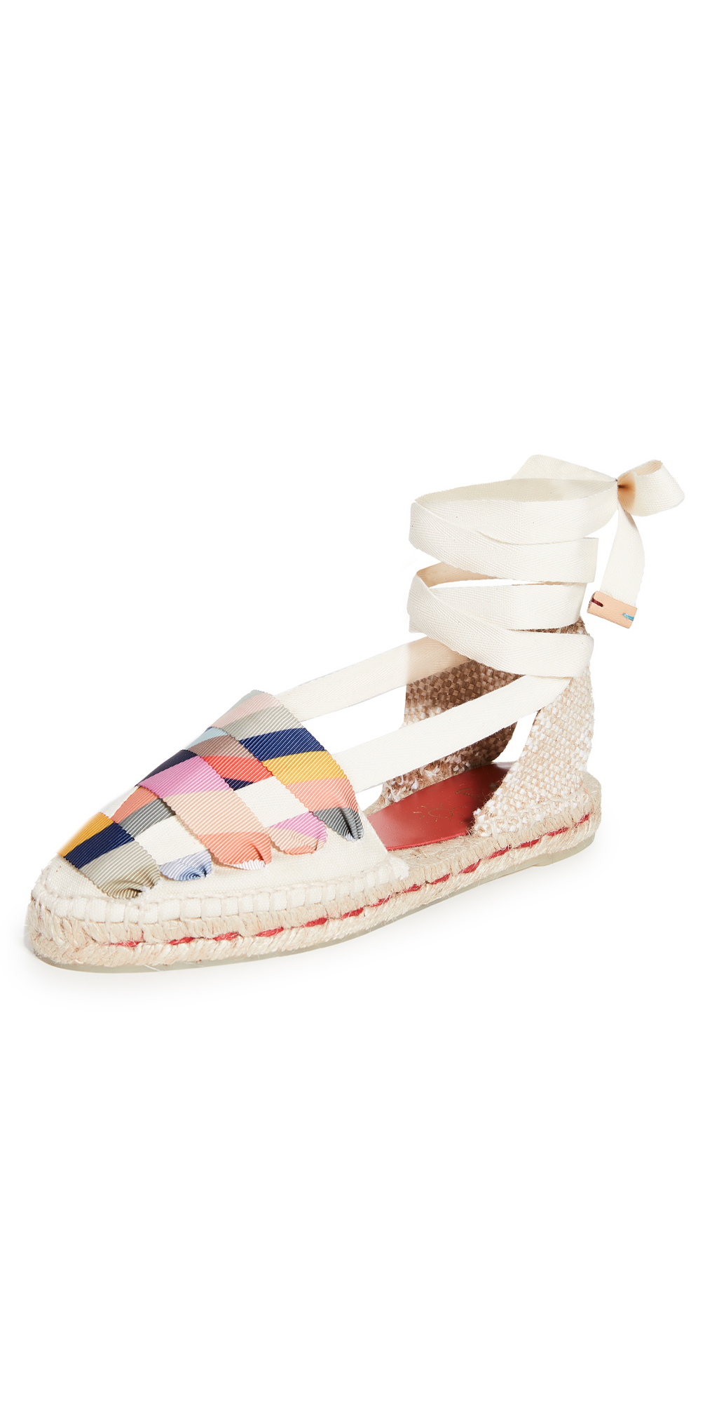 Castaner x Paul Smith Jean Lace Up Flat Espadrilles
