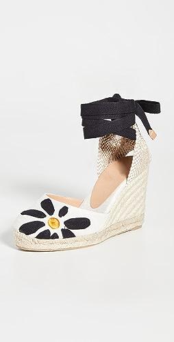 Castaner - Candace 雏菊坡跟麻编平底鞋