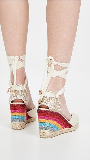 Castaner x Paul Smith Carina 坡跟麻编鞋