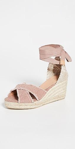 Castaner - Bluma 磨边坡跟平底鞋