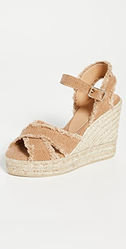 Castaner - Bromelia 坡跟编织底便凉鞋