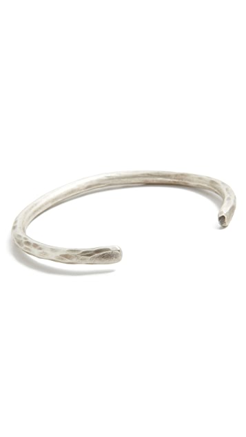 Cause and Effect Pounded Round Silver Cuff