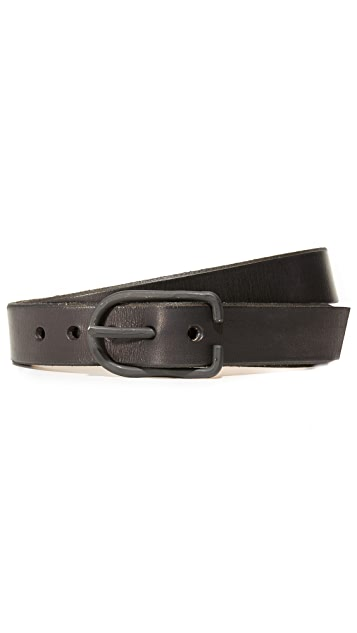 Cause and Effect Leather Belt with Paint Detail