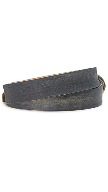 Cause and Effect Distressed Leather Belt