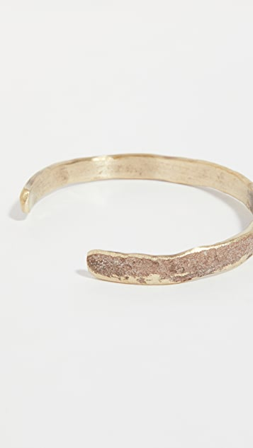 Cause and Effect Oxidized Brass Cuff