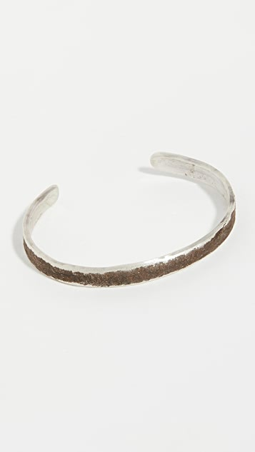 Cause and Effect Oxidized Sterling Silver Cuff