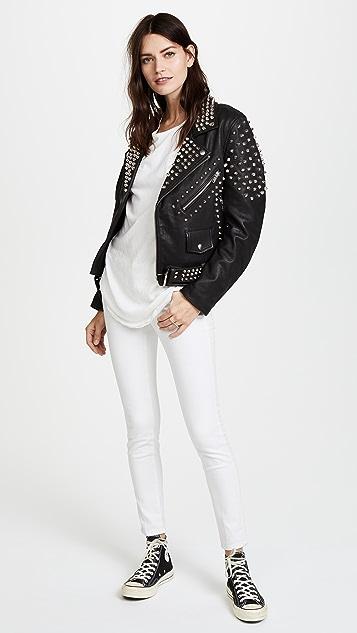Christian Benner Studded Moto Jacket