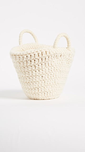 Caterina Bertini Wool Knit Tote