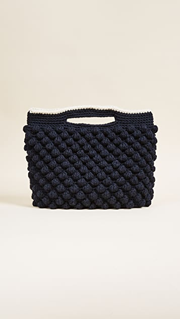 Caterina Bertini Wool Knit Clutch