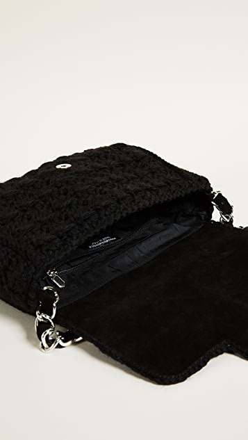 Caterina Bertini Wool Knit Shoulder Bag
