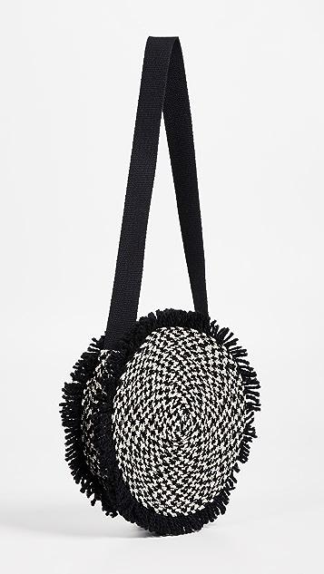 Caterina Bertini Woven Circle Cross Body Bag