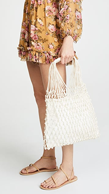Caterina Bertini Woven Shoulder Bag