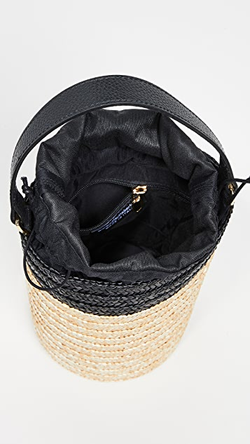 Caterina Bertini Straw Bucket Bag