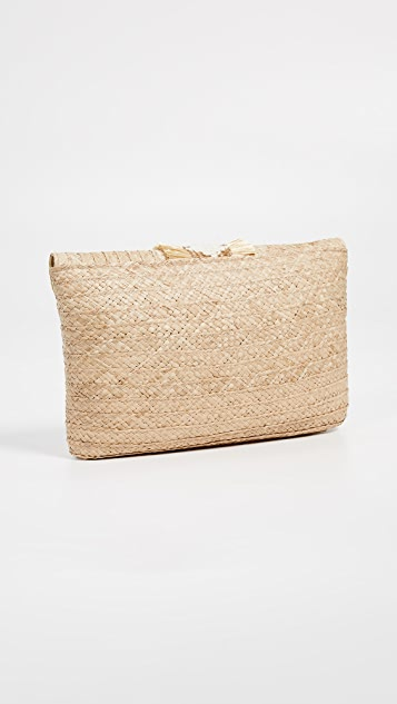 Caterina Bertini Straw Clutch