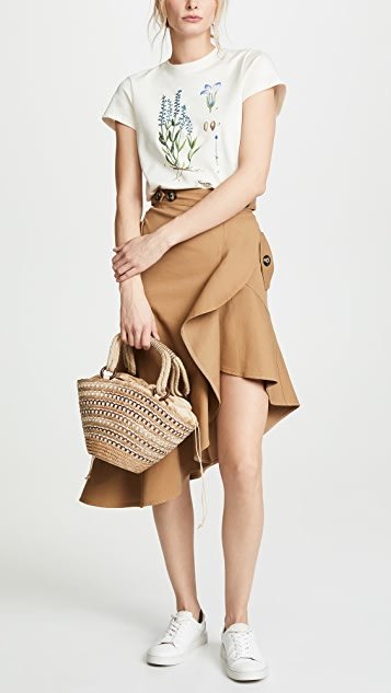 Caterina Bertini Straw Tote