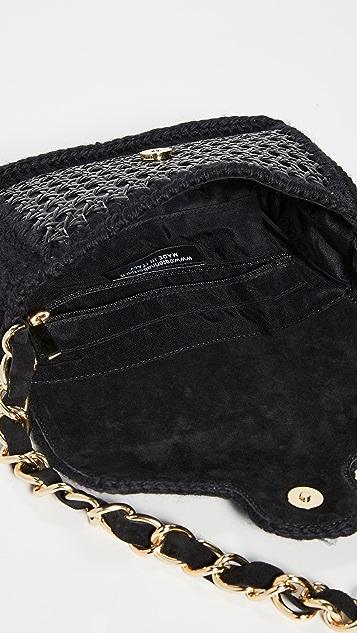 Caterina Bertini Woven Shoulder Bag