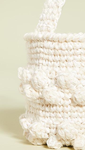 Caterina Bertini Плетеная сумка-ведро