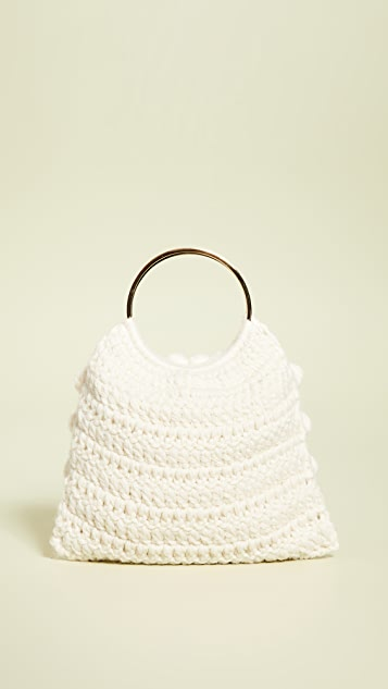 Caterina Bertini Woven Ring Tote Bag