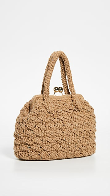 Caterina Bertini Woven A-Frame Bag