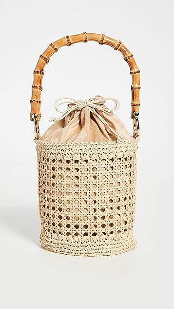 Caterina Bertini Woven Bucket Bag
