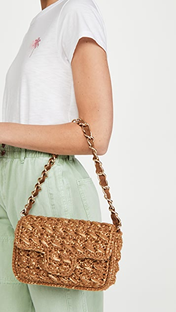 Caterina Bertini Tan Woven Bag