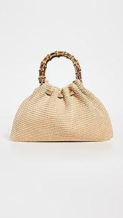 Caterina Bertini Natural Bamboo Handle Bag