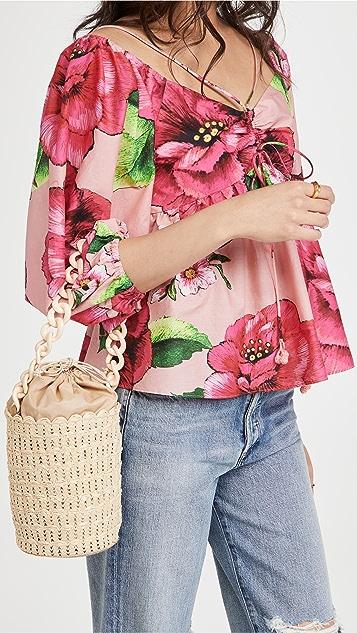 Caterina Bertini Chain Strap Small Bucket Bag
