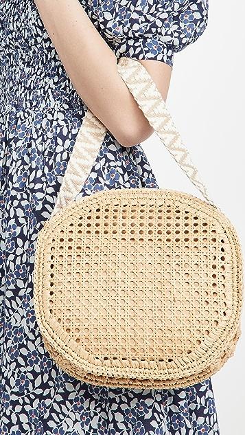Caterina Bertini Round Straw Bag