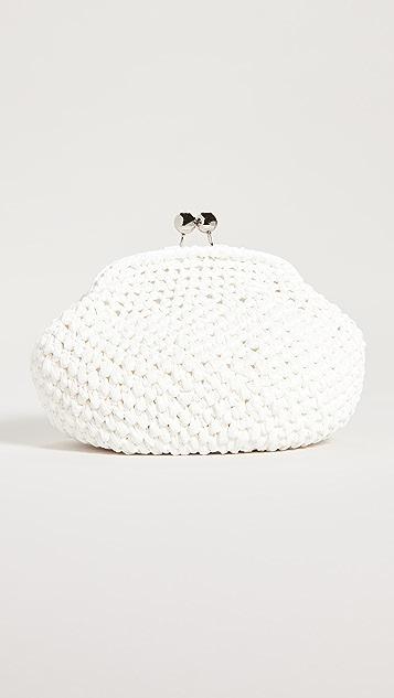 Caterina Bertini 白色梭织手拿包