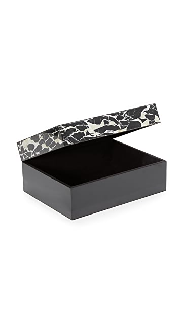Carla Carstens Noir Marble Acrylic Medium Rectangular Box