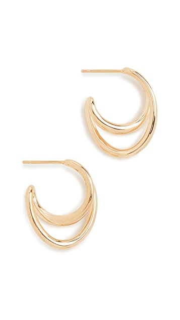 Charlotte Chesnais Mini Initial Hoop Earrings