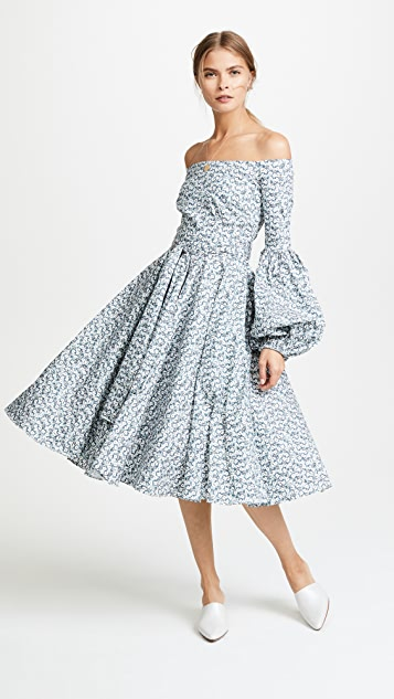 Caroline Constas Gisele Tea Length Dress