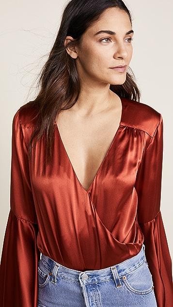Caroline Constas Bell Sleeve Bodysuit