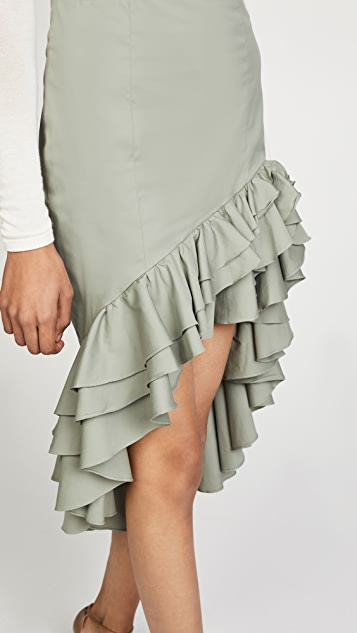 Caroline Constas Pencil Ruffle Skirt