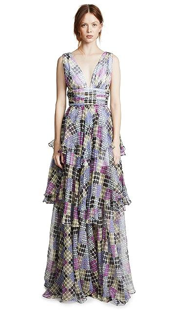 Caroline Constas Paros Maxi Dress
