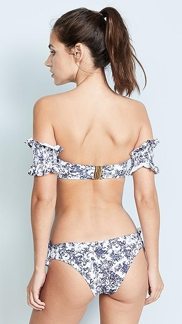 Caroline Constas Mer Adros Toile Bandeau Bikini Top