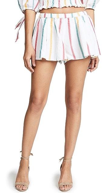 Caroline Constas Pleated Shorts