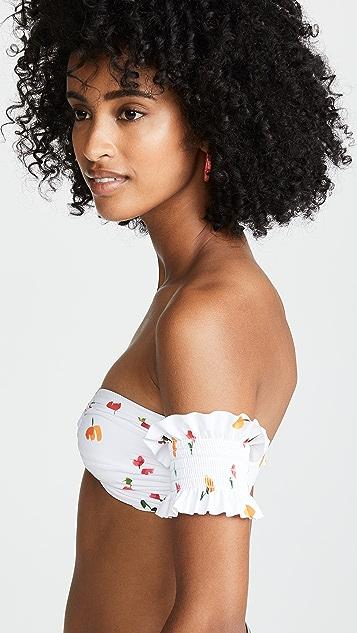 Caroline Constas Adros Bandeau Bikini Top