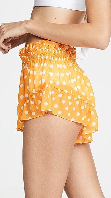 Caroline Constas Ruffle Shorts