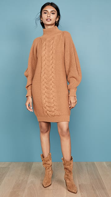 Caroline Constas Cable Knit Dress