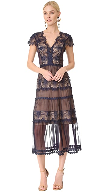 Catherine Deane Gwyneth Lace Cap Sleeve Dress