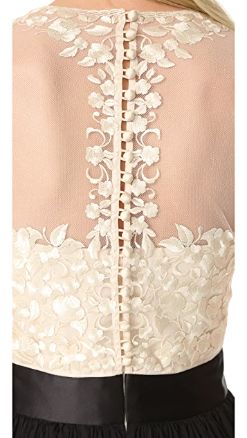 Catherine Deane Isha Lace Embroidered Gown