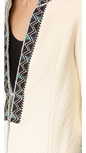 Derek Lam 10 Crosby Embroidered Short Coat