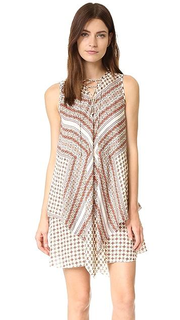 Derek Lam 10 Crosby Sleeveless Lace Up Dress
