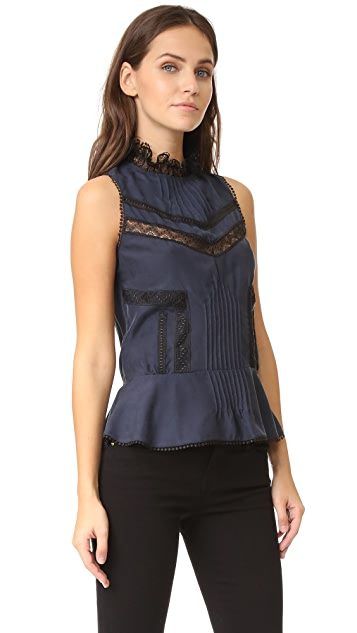 Derek Lam 10 Crosby Sleeveless Peplum Blouse